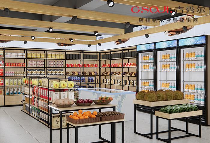 特产零食店货架70㎡案例