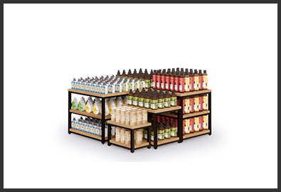 超市货架-堆头G款