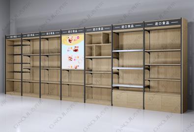 超市便利店靠墙货架 靠墙高柜系列-带眉头