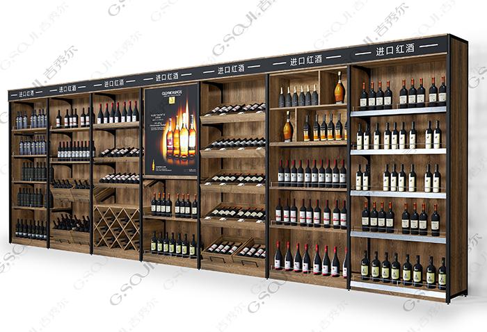酒类超市高柜-靠墙柜眉头系列