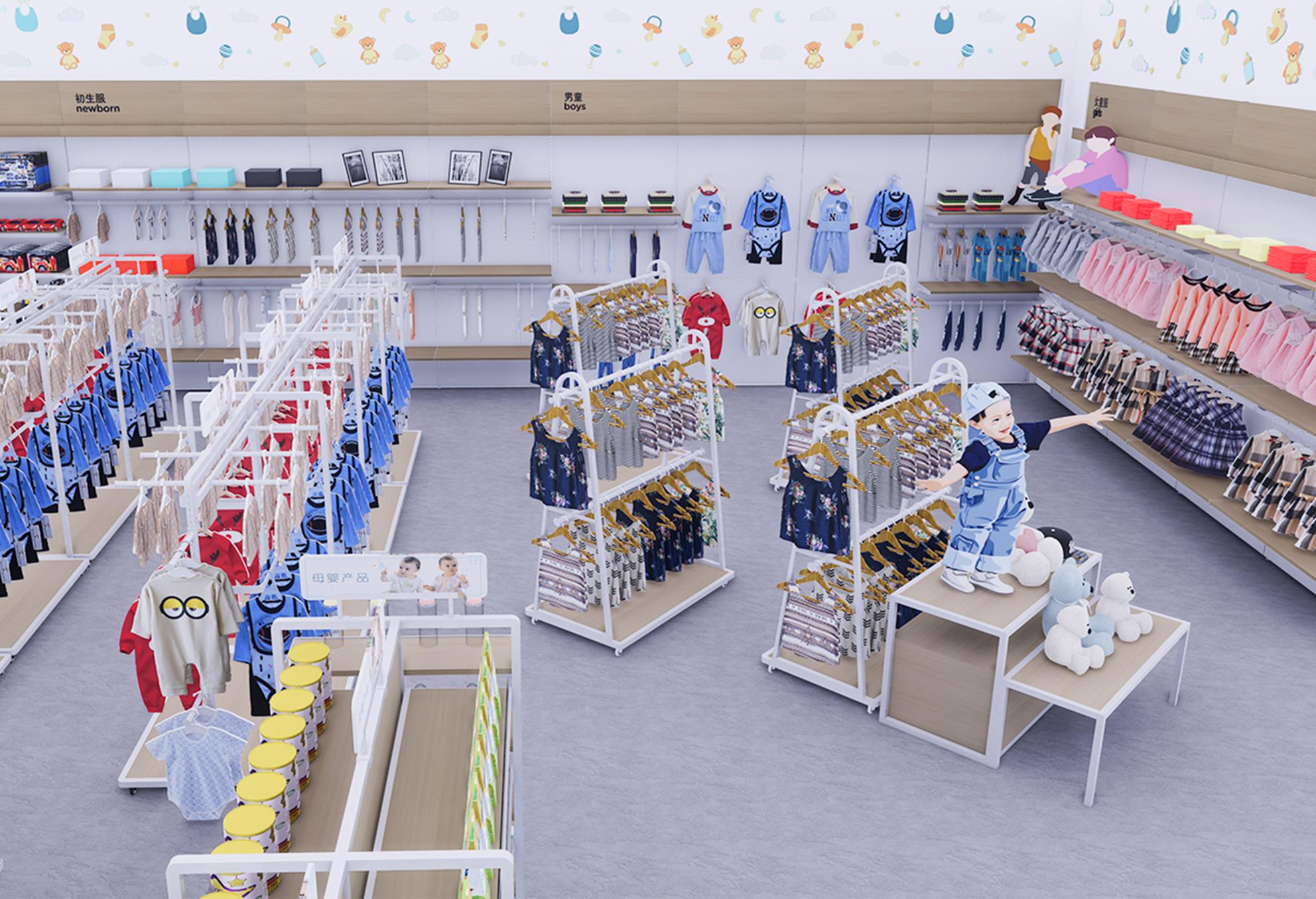 孕婴店货架300㎡案例