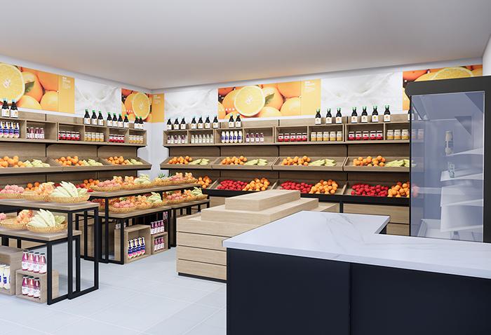 水果店货架30㎡案例