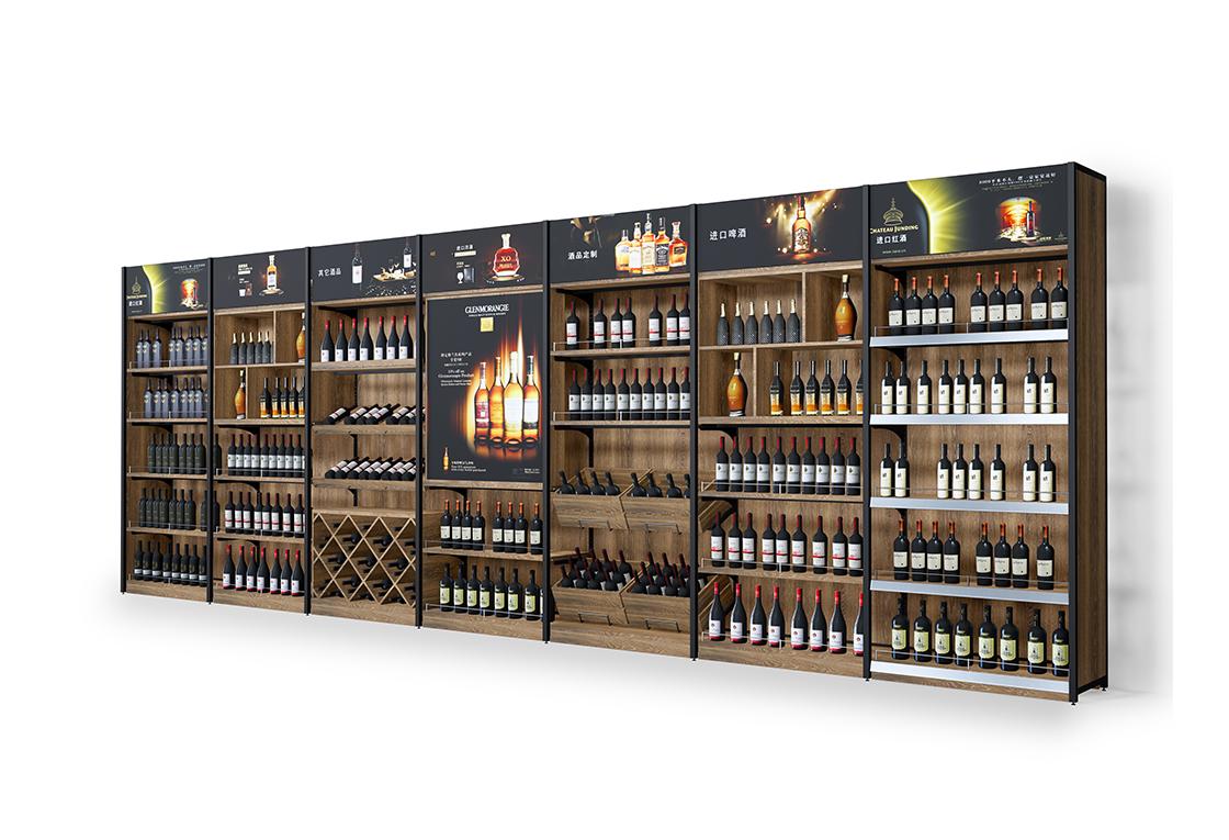 酒类超市高柜-靠墙柜灯箱系列